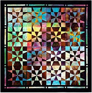 Op-Art Kaleidoscope Quilts, Template-free Technique