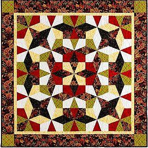 Kaleidoscope Puzzle Quilts, Template-free Technique